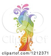 Cartoon Of An Abstract Splash On White Royalty Free Vector Clipart