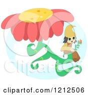 Little Elf On A Flower Stem
