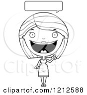 Cartoon Of A Black And White Happy Talking Pregnant Woman Royalty Free Vector Clipart by Cory Thoman