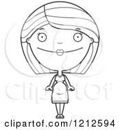 Cartoon Of A Black And White Happy Pregnant Woman Royalty Free Vector Clipart by Cory Thoman