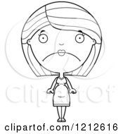 Cartoon Of A Black And White Depressed Pregnant Woman Royalty Free Vector Clipart by Cory Thoman
