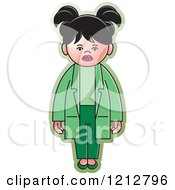 Clipart Of A Girl Or Woman In A Lab Coat Royalty Free Vector Illustration