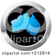 Clipart Of An Australia Map Icon Royalty Free Vector Illustration by Lal Perera