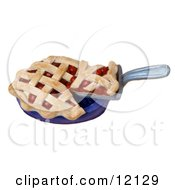 Clay Sculpture Clipart Cherry Pie With Latticework Crust Royalty Free 3d Illustration by Amy Vangsgard