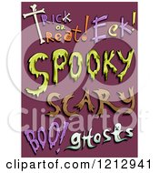 Clipart Of Halloween Words On Purple Royalty Free Vector Illustration