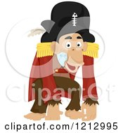 Clipart Of A Pirate Monkey Royalty Free Vector Illustration