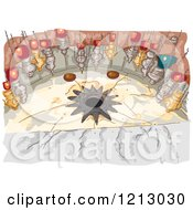 Clipart Of The Grotto Of The Church Of The Nativity Bethlehem Royalty Free Vector Illustration