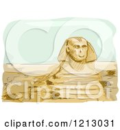Clipart Of The Great Sphinx Of Giza In Egypt Royalty Free Vector Illustration by BNP Design Studio