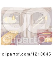 Clipart Of A Deserted Diner Interior Royalty Free Vector Illustration
