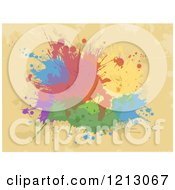 Clipart Of Colorful Ink Splatters On Tan Royalty Free Vector Illustration by BNP Design Studio