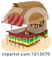 Clipart Of A Beach Bar Hut Royalty Free Vector Illustration