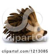 Clipart Of A 3d Happy Hedgehog Smiling And Facing Right Royalty Free CGI Illustration by Julos
