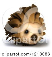 Clipart Of A 3d Happy Hedgehog Smiling 2 Royalty Free CGI Illustration by Julos