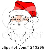 Clipart Of A Santa Head 3 Royalty Free Vector Illustration by Vector Tradition SM