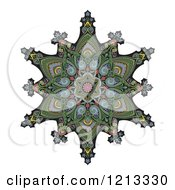 Clipart Of A Kaleidoscope Arabic Ottoman Floral Design Royalty Free Vector Illustration by AtStockIllustration