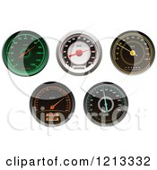 Clipart Of Vehicle Speedometers 2 Royalty Free Vector Illustration by Vector Tradition SM