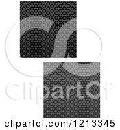 Clipart Of Seamless Black Texture Fiber Backgrounds 2 Royalty Free Vector Illustration