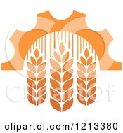 Clipart Of A Whole Grain Wheat And Gear Design 7 Royalty Free Vector Illustration by Vector Tradition SM