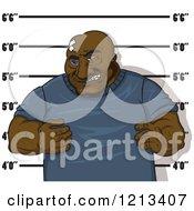 Poster, Art Print Of Black Man Getting His Mugshot Taken
