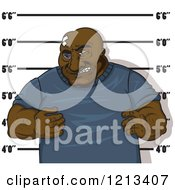 Clipart Of A Black Man Getting His Mugshot Taken Royalty Free Vector Illustration by Vector Tradition SM