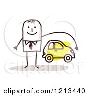 Stick People Man Depicting Car Insurance