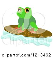 Cute Frog On A Surfboard