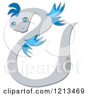 Cartoon Of A Winged Snake Royalty Free Vector Clipart by bpearth
