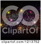 Clipart Of A Colorful Disco Lights Background Royalty Free Vector Illustration
