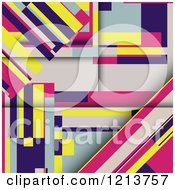 Clipart Of A Colorful Abstract Geometric Background Royalty Free Vector Illustration