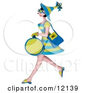 Clay Sculpture Clipart Shopping Woman Carrying Bags Royalty Free 3d Illustration by Amy Vangsgard