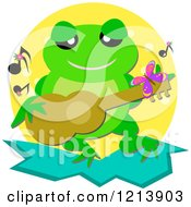 Musician Frog Playing A Guitar