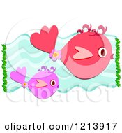 Red And Pink Fish Swimming Underwater