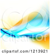 Clipart Of A Blue And Orange Glowing Fractal Swoosh Royalty Free CGI Illustration