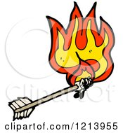 Cartoon Of A Flaming Arrow Royalty Free Vector Illustration by lineartestpilot