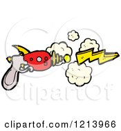 Cartoon Of A Space Ray Gun Royalty Free Vector Illustration by lineartestpilot