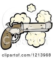 Cartoon Of A Pistol Royalty Free Vector Illustration by lineartestpilot