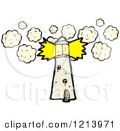 Cartoon Of A Lighthouse Royalty Free Vector Illustration