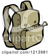 Cartoon Of A Backpack Royalty Free Vector Illustration