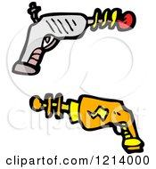 Cartoon Of Space Ray Guns Royalty Free Vector Illustration by lineartestpilot