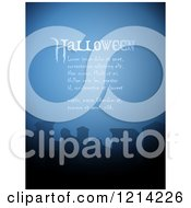 Clipart Of A Foggy Cemetery With Tombstones And Halloween Sample Text Royalty Free Vector Illustration