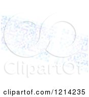 Clipart Of A Pastel Purple And Blue Pixels On White Royalty Free CGI Illustration