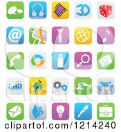 Clipart Of IOS 7 Styled Interface App Icons 2 Royalty Free Vector Illustration by cidepix