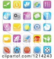 Clipart Of IOS 7 Styled Interface App Icons Royalty Free Vector Illustration by cidepix