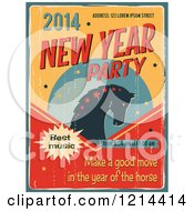 Clipart Of A Vintage Distressed New Year 2014 Party Design Royalty Free Vector Illustration by Eugene