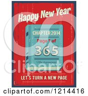 Clipart Of A Happy New Year Lets Turn A New Page Book With A Distressed Texture Royalty Free Vector Illustration by Eugene