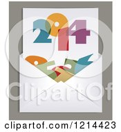 Clipart Of A 2014 Letter In An Envelope Royalty Free Vector Illustration