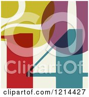 Clipart Of Colorful Year 2014 Numbers Over Beige Royalty Free Vector Illustration