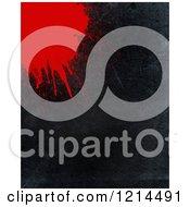 Clipart Of A Blood Splatter On Black Grunge Royalty Free CGI Illustration