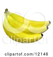 Clay Sculpture Clipart Bunch Of Bananas Royalty Free 3d Illustration