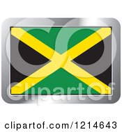 Clipart Of A Jamaica Flag And Silver Frame Icon Royalty Free Vector Illustration by Lal Perera